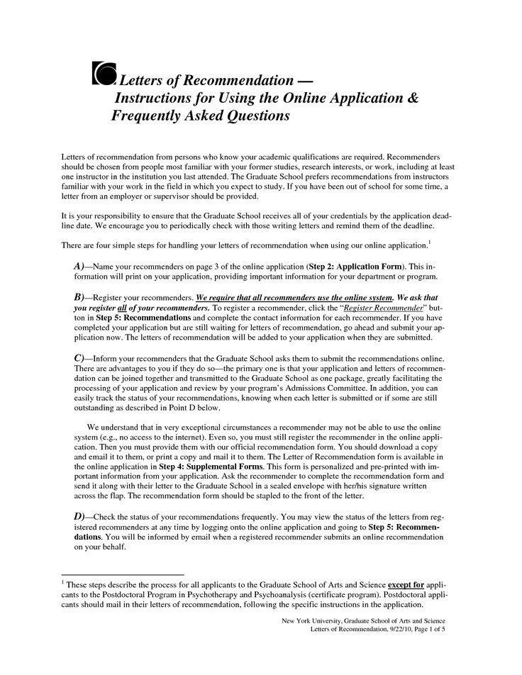 50 Sample Letter Of for Graduate School