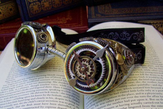 Steampunk Goggles (G3) - Chrome and Brass by Friston $75