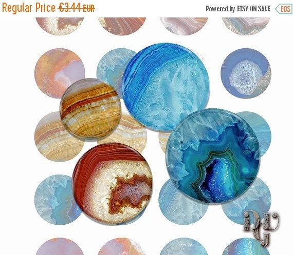 35% OFF SALE AGATE Digital Collage Sheet 1 inch by DreamUpGraphic