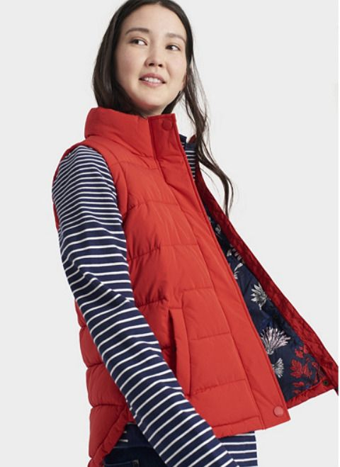 Joules Eastleigh Padded Gilet, Size 16, Red, BNWT #Joules #GiletsBodywarmers #Casual