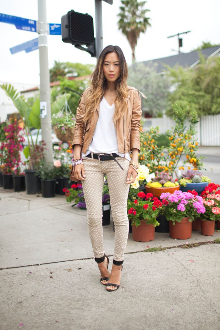 browns: Shoes, Dots Pants, Polka Dots, Style, Outfit, Jeans, Fall Autumn, Leather Jackets, Fashion Fall