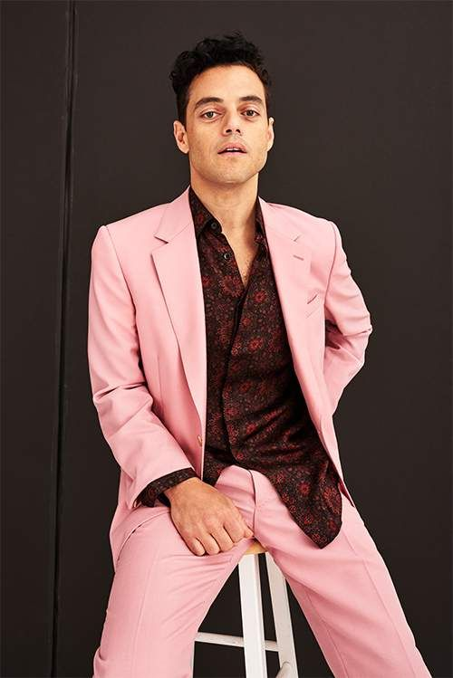 85dd4907f36d Rami Malek wearing Alexander McQueen for a photoshoot with Mr Porter ...