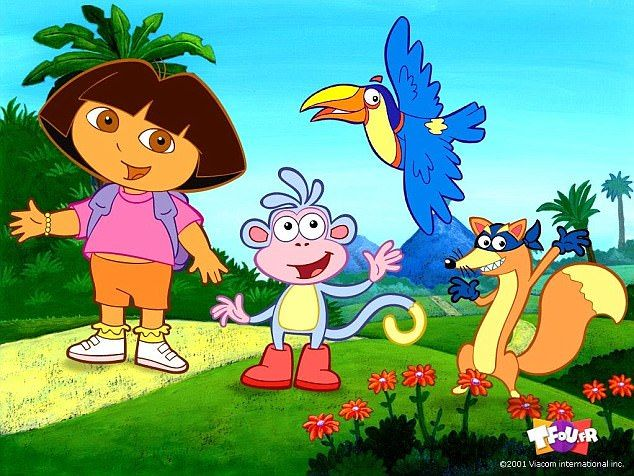 """""""I learned spanished at * years old""""  Dora the explorer was my favorite learning show to watch. Not only did I learn about basic Spanish but I learned about a different culture that I didn't know much about at that age. My sister and I would huddle around the TV screen yelling """" swiper no swiping"""" or """" The color is Azul""""."""