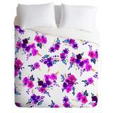 Amy Sia Ava Floral Purple Duvet Cover | DENY Designs Home Accessories
