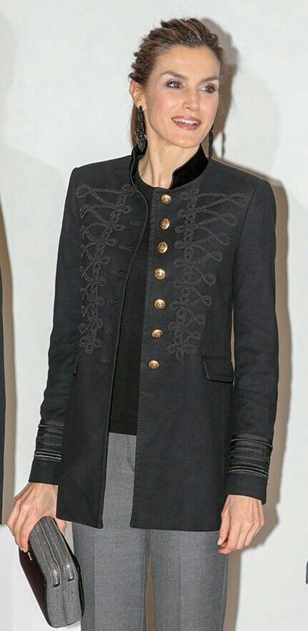 Letizia - Zara Military Jacket. Felt zip bag and earrings by Parfois.