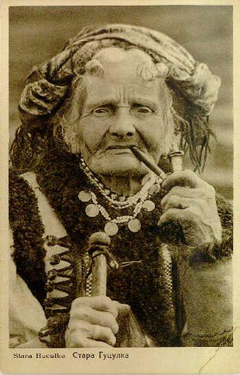 Hutsul baba, photograph by Senkowski, published in Kosiv, 1926.