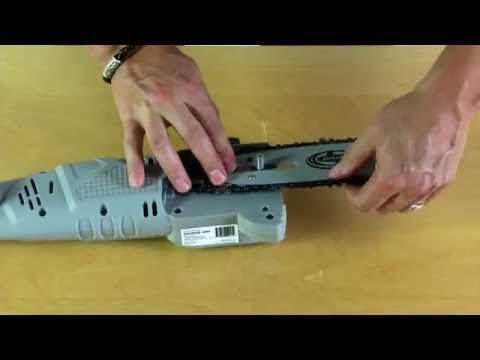 SWJ802E - How To Replace + Install Chain Saw Chain | Sun Joe Pole Saw - YouTube