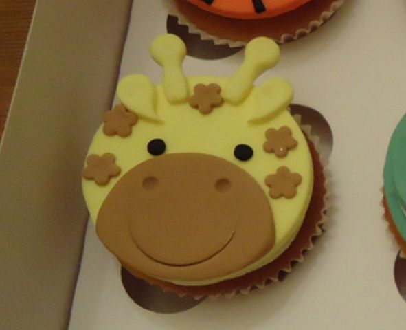 Giraffe cupcake topper