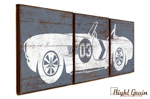 Car Nursery Wall Decor : Best ideas about vintage car decor on