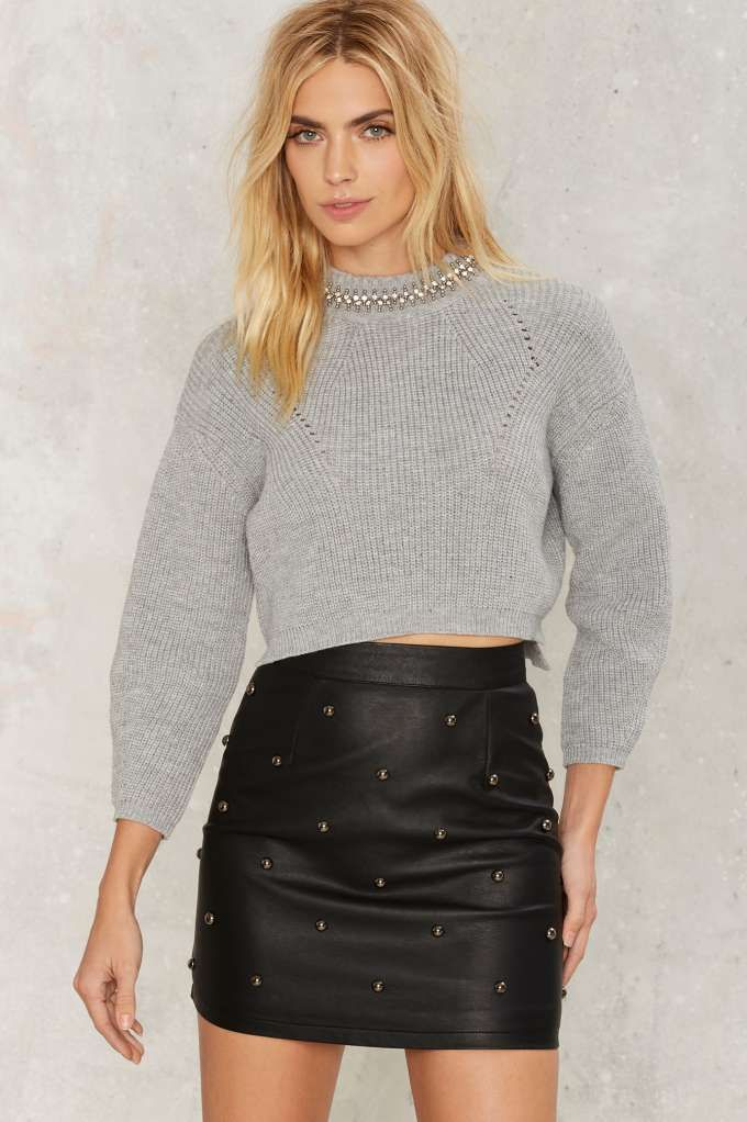 Collar Days Embellished Sweater - Sale: Newly Added | Sale: 30% Off | Knits | Pullover | Sweaters