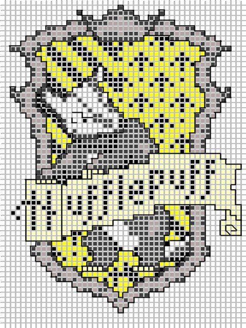 Harry Potter Hufflepuff Embroidery pattern by Ronjaliek on deviantART