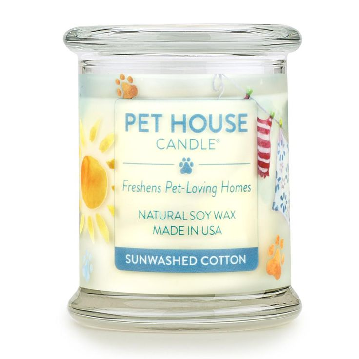 Sunwashed Cotton Pet House Candle: Pet Odor Candle 100% Soy Wax – One Fur All