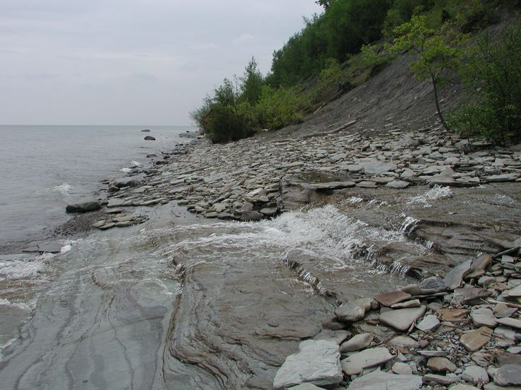 Image result for lake erie ledge shore night