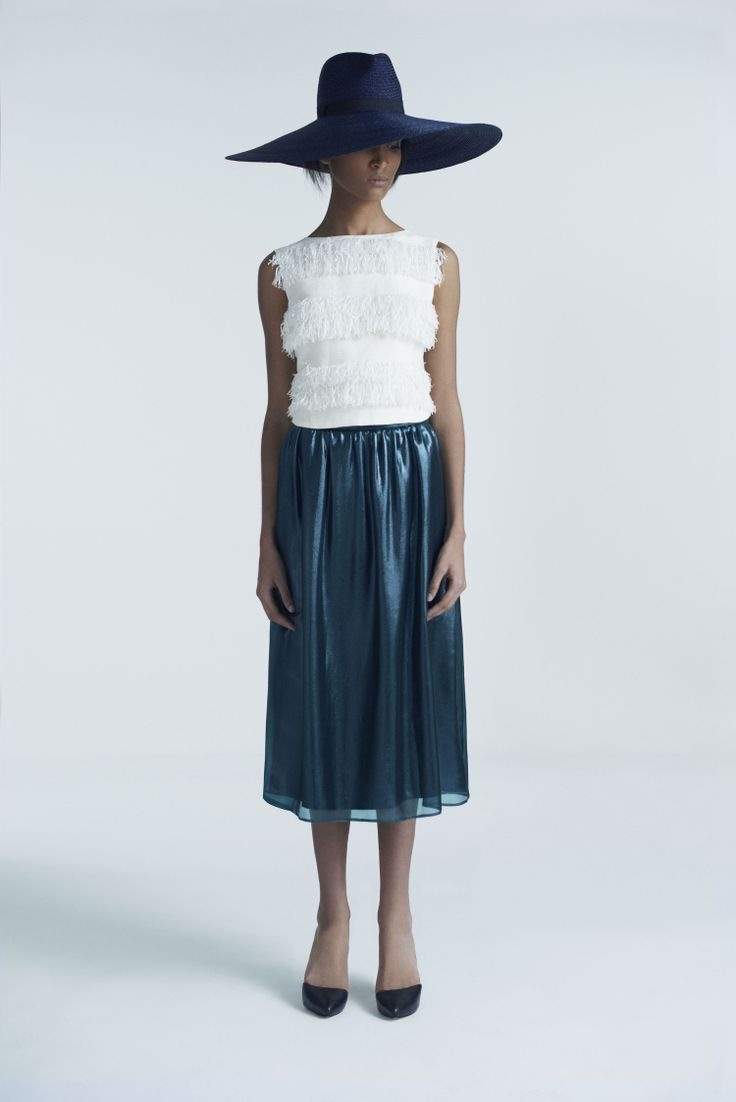 Seri Hat, Rooibos Top and Mulder Skirt | Samuji Pre-Fall 2014 Collection