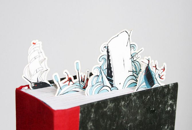 Moby Dick Bookmarks for Felix Jud bookshops.