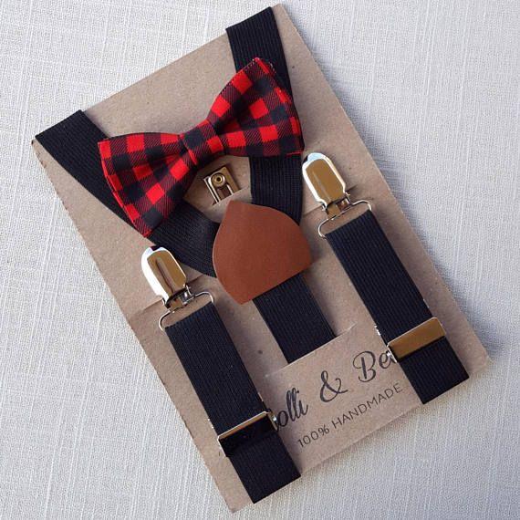 Newborn Bow Tie  Suspenders Toddler Bow Tie  Suspenders