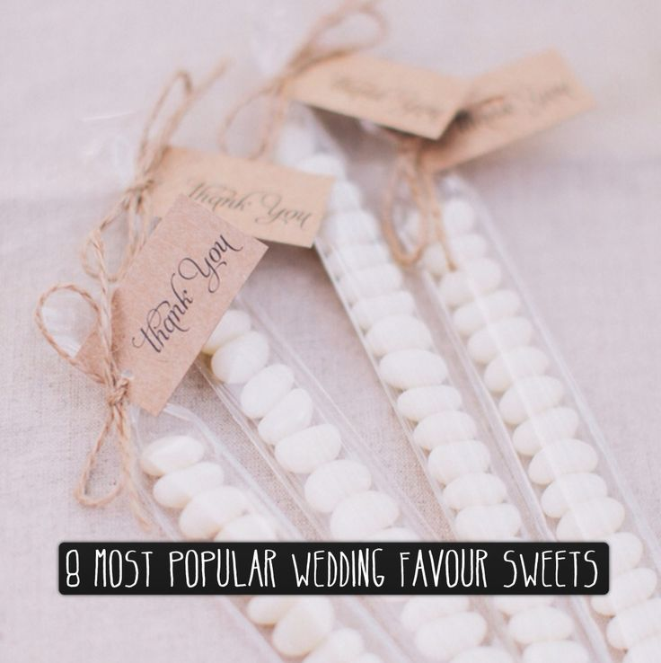 8 Most Popular Wedding Favours