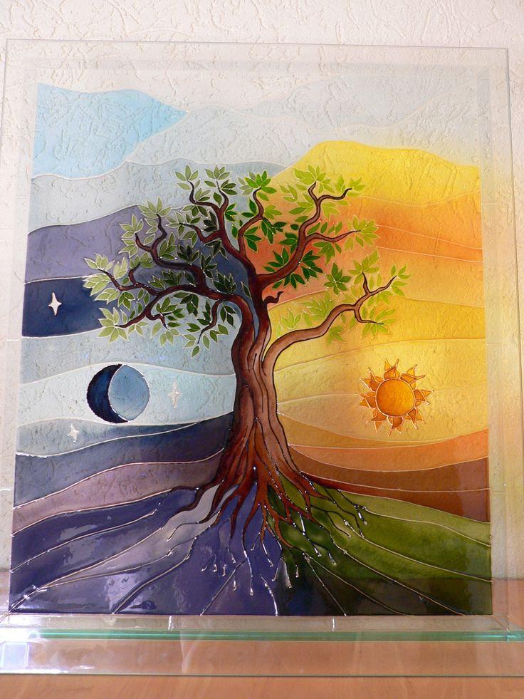 stained glass - Tree of life = Üvegfestés-Az élet fája