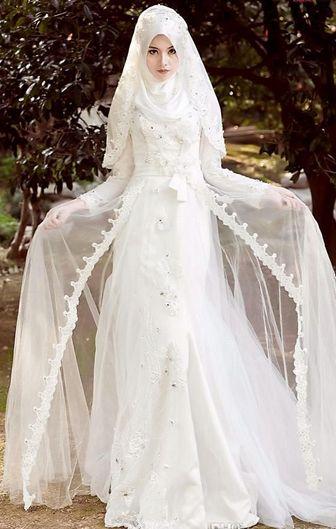Gaun Pengantin Muslim Elegan