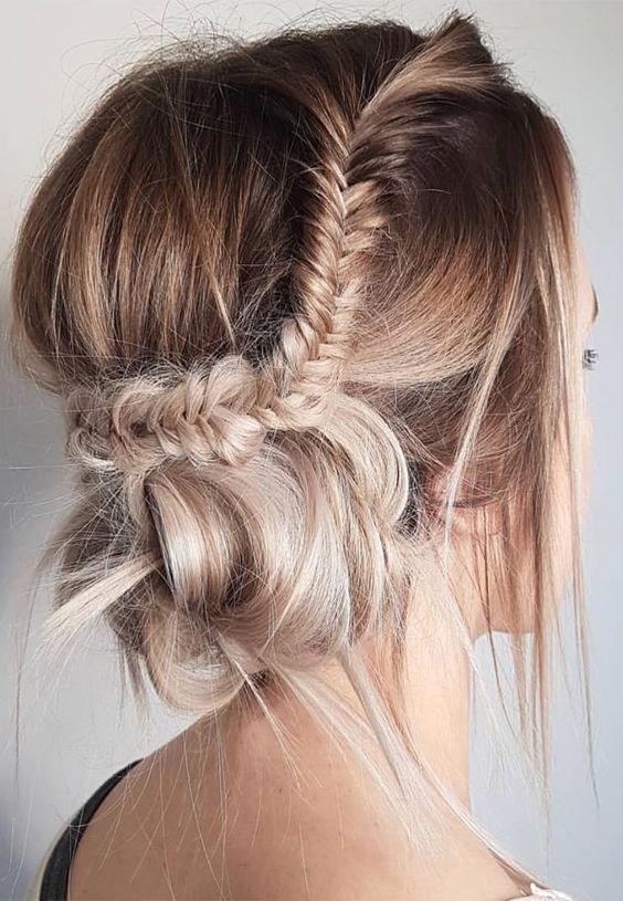 Best ideas of messy braid updos for best hair look in 2017-2018.