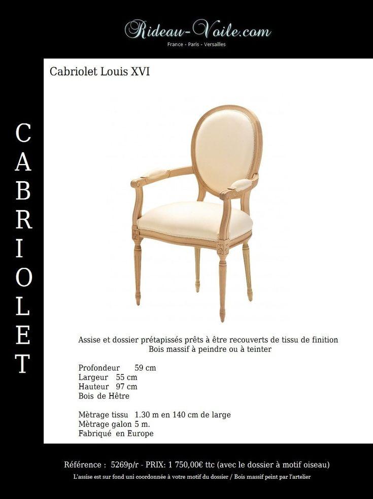 28 best Siège Cabriolet style Louis 16 XVI - Chaise  Fauteuil avec