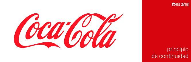 Logo de Coca Cola, ejemplo del Principio de Continuidad de la Gestalt  https://www.silocreativo.com/principios-gestalt-diseno-grafico/