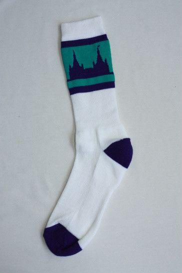 San Diego Temple Socks - White