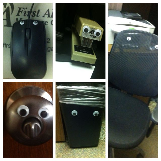 Best. prank. ever. Googly eye bombing! cheap Pranks at  www.anrdoezrs.net…