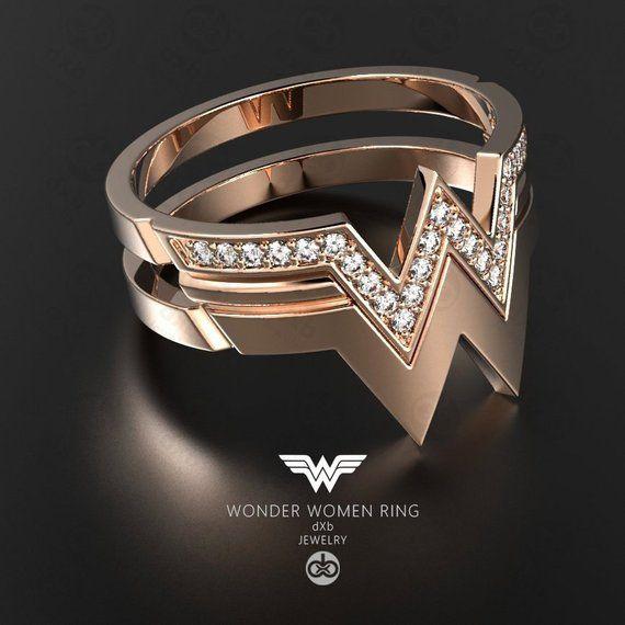 Unique Wedding Ring For Gift Anniversary Bride Unique Rose Gold