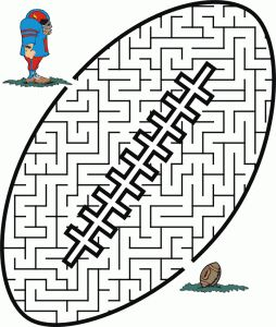 free football coloring pages mazes etc