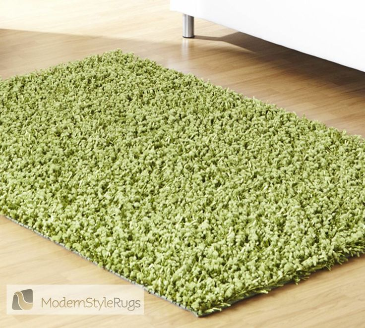 Great Veronica Plain Lime Green Rug   Modern Style Rugs