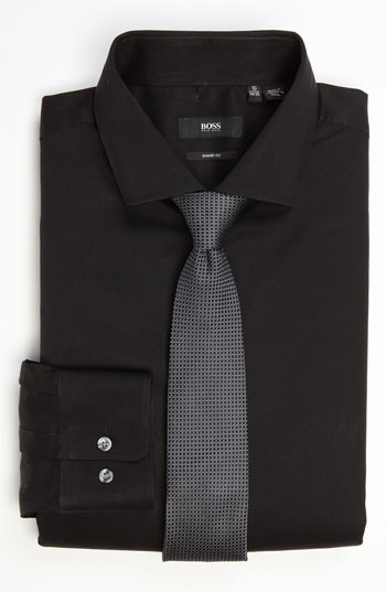 BOSS Black Dress Shirt & Tie | Nordstrom