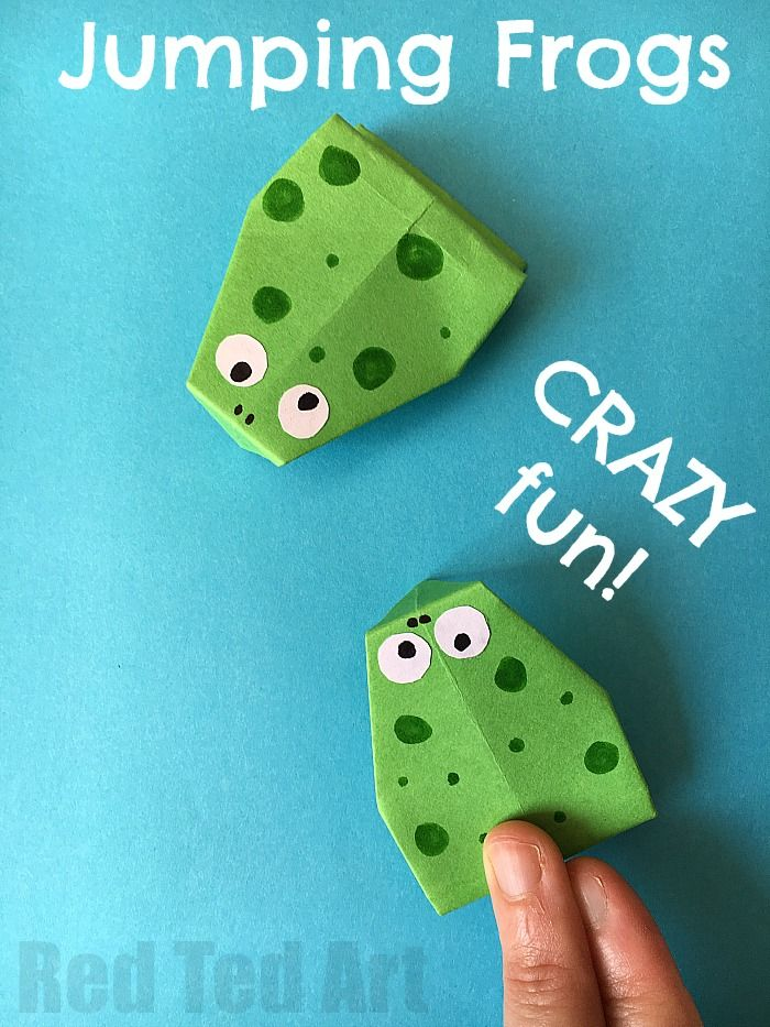 Jumping Frog Origami - the easies origami frog that actually jumps! - Red Ted Art's Blog