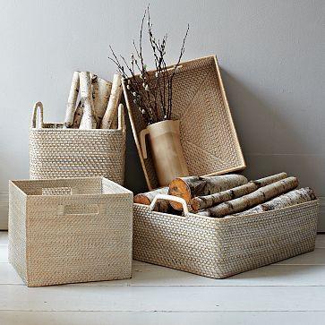 Whitewash Modern Weave Storage Collection #WestElm