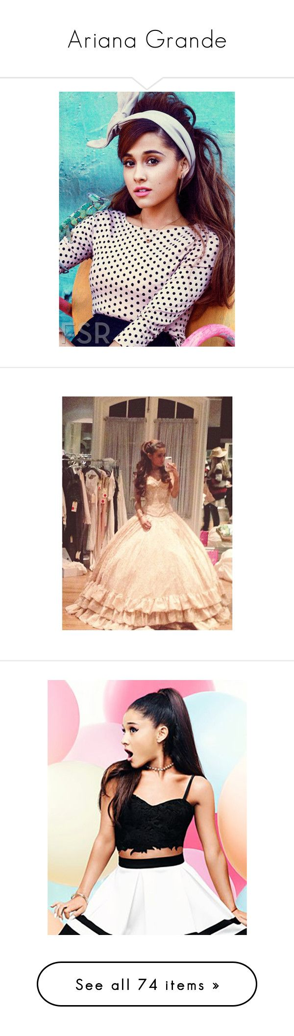 """""""Ariana Grande"""" by artemisa-538 ❤ liked on Polyvore featuring ariana grande, ariana, dresses, people, looks, tops, lace bralet tops, lace tops, lace bralette top and lipsy"""