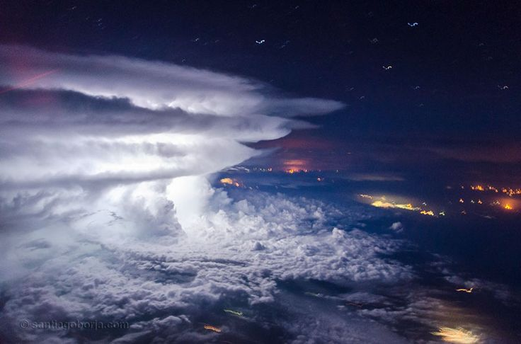 Being a pilot, you get to see a bunch of beautiful sights from above. Being a pilot for a South American airline, you also get to witness the stunning phenomena of storms as your job requires flying over regions that experience them.