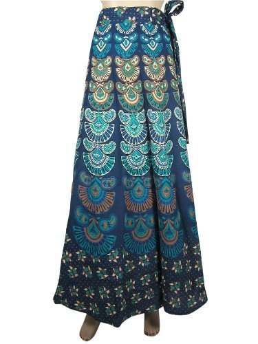 Designer Cotton Wrap Around Skirt Boho Gypsy Blue Barmari Print Warp Skirts Mogul Interior, http://www.amazon.com/gp/product/B009RK5UIG/ref=cm_sw_r_pi_alp_aWvFqb1FDB8NR
