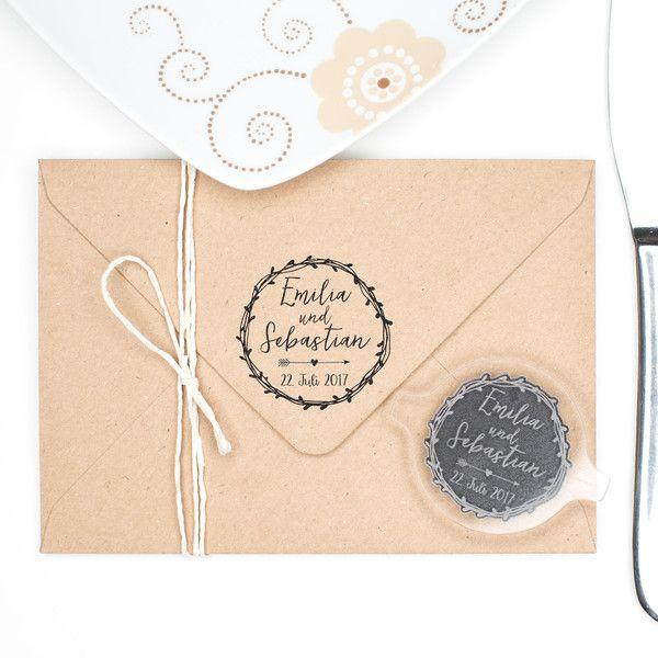 Einladungskarten   STEMPEL Hochzeit   Name U0026 Datum   Ein Designerstück Von  BoxDesign Bei DaWanda