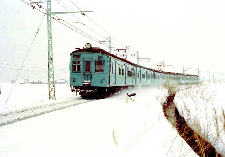 昭和50年代の鉄道写真 ぶんたの鉄道写真小屋 大糸線の旧型国電