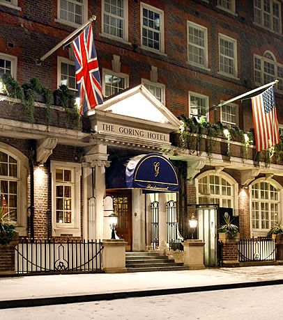 The Goring Hotel, London. This is the hotel where Kate Middleton stayed the night before she married Prince William.
