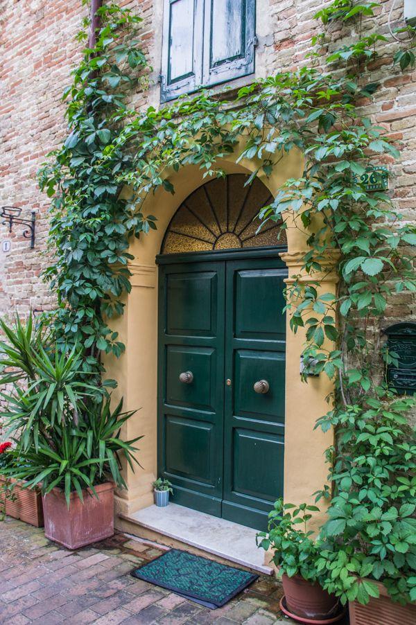 Doors and Windows in Corinaldo, Marche Region, Italy