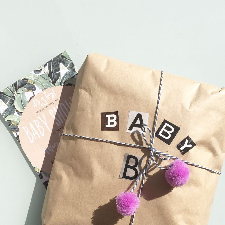 Baby B | Brown paper, magazine cut-outs & pom poms | Tiny human clothes