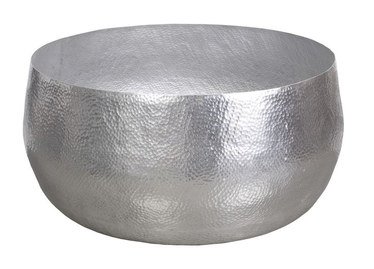 Nomad hammered aluminum indoor/outdoor coffee Table - Silver.