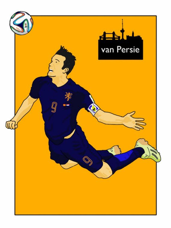 This listing is for a 16 x 12 print of my Robin van Persie Netherlands artwork. Printed on a quality matt photo paper, this is perfect for