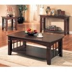 $646.92  Coaster Furniture - Cherry Finish Occasional 4 Piece Table Set - 700007-4set