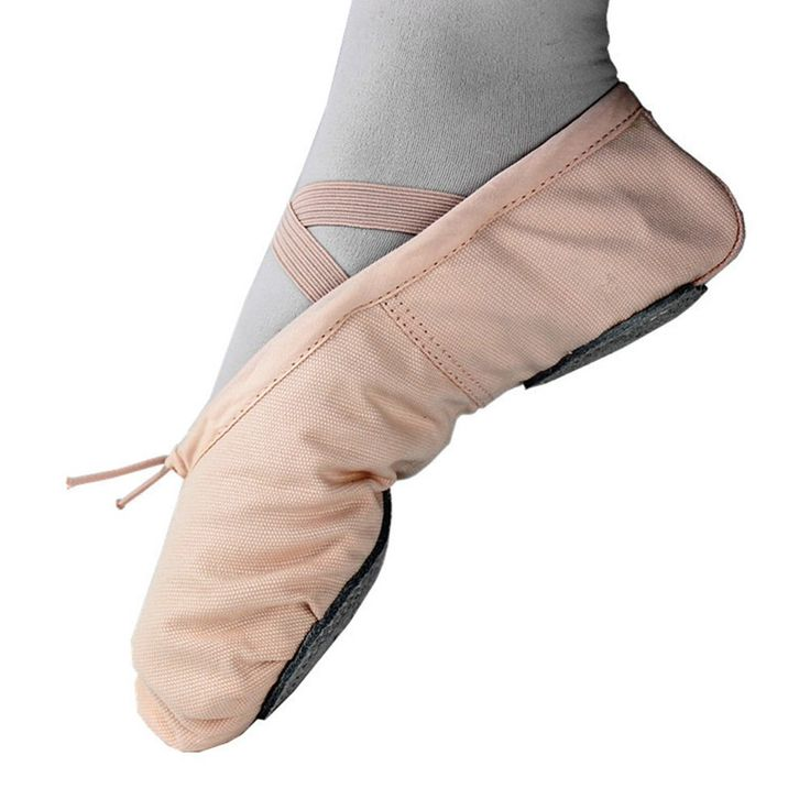 Ballet Shoes Pointe Canvas Split Sole Practice Ballet Dancing Gymnastics Shoes Ballet Flat Slipper US7. Outer Material: Soft ballet shoes with pure high quality canvas; Sole: Leather, the leather shoe features a lightly padded footed. Canvas Ballet Shoe Split Sole Different Sizes for Children and Adults. Elastic Drawstring: Leather ballet shoe with pre-attached elastic strap and adjustable ties at front, lightweight slippers to let your feet breath. Very comfortable. High Quality: Durable...