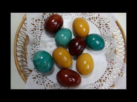 Oua vopsite fara chimicale pentru Paste - YouTube
