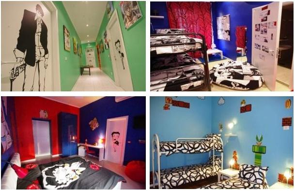 Un hostal dedicado a los personajes de Cómic en Roma, muy original!    Dormir con superhéroes, Mario Bros, Betty Boop...    http://www.guias.travel/ver/?hotel/it/comics-guesthouse.es.html    www.viajararoma.com