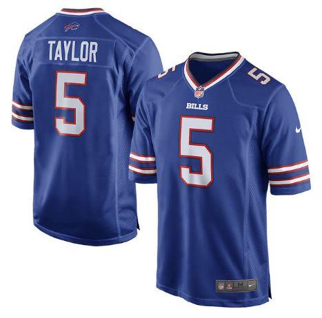 Men's Buffalo Bills #5 Tyrod Taylor Royal Blue Nike NFL Home Game Jersey
