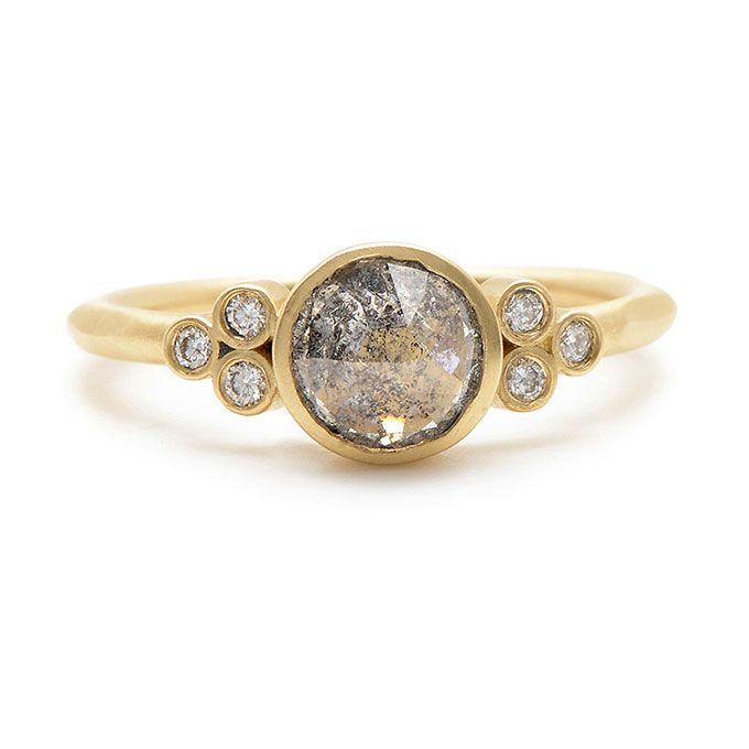 Rebecca Overmann Rose Cut Ring Raw Diamond Engagement Ring | Brides.com